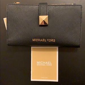 NEW Micheal Kors Karla LG MF PHN Leather Wallet
